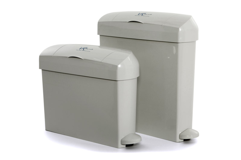 Sanitary Bins Kennedy Grey Pair