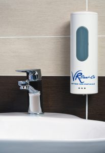 VR sani soap dispenser